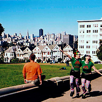 2 Hippie Chicks in Alamo Square