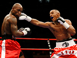 January 19, 2008; New York, NY, USA;  Devon Alexander and Demarcus Corley trade punches during their 10round bout at Madison Square Garden in New York, NY.  Alexander won the bout via unanimous decision.