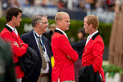 Philippaerts Olivier, Weinberg Peter, Guery Jerome, Bruynseels Niels, BEL<br /> Longines FEI Jumping Nations Cup Final<br /> Challenge Cup - Barcelona 2019<br /> © Dirk Caremans<br />  06/10/2019