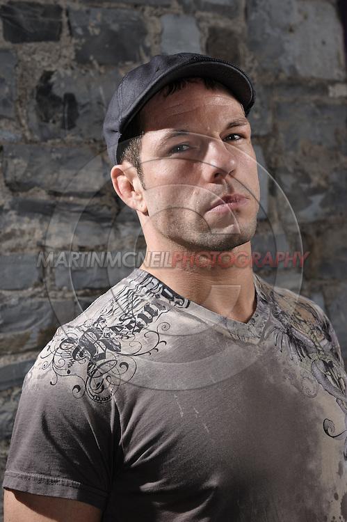 "A portrait of mixed martial arts athlete Marcus ""The Irish Hand Grenade"" Davis"