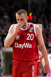 28.03.2016, Telekom Dome, Bonn, GER, Beko Basketball BL, Telekom Baskets Bonn vs FC Bayern Muenchen, 23. Runde, im Bild Dusko Savanovic (FC Bayern Muenchen #20) // during the Beko Basketball Bundes league 23th round match between Telekom Baskets Bonn and FC Bayern Munich at the Telekom Dome in Bonn, Germany on 2016/03/28. EXPA Pictures © 2016, PhotoCredit: EXPA/ Eibner-Pressefoto/ Schüler<br /> <br /> *****ATTENTION - OUT of GER*****