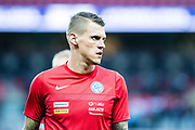 Slovakia (3) Martin SKRTEL  during the warm up before the FIFA World Cup Qualifier match between England and Slovakia at Wembley Stadium, London, England on 4 September 2017. Photo by Sebastian Frej.