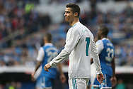 MADRID, SPAIN. January 21, 2018 - Cristiano Ronaldo reacts after an offside. Doubles for Cristiano Ronaldo, Bale and Nacho, alongside Modric's sole strike, overturn Deportivo's early goal in a superb display of the Whites' firepower. Photos by Antonio Pozo | PHOTO MEDIA EXPRESS