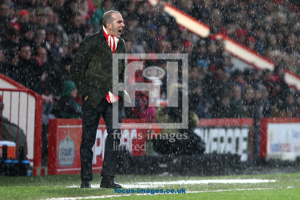 Picture by Daniel Chesterton/Focus Images Ltd +44 7966 018899.12/01/2013.Swindon Town manager Paolo Di Canio during the npower League 1 match at the Seward Stadium, Bournemouth.
