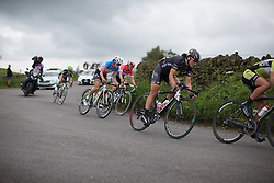 Elisa Longo-Borghini (ITA) of Wiggle Hi5 Cycling Team leans into a corner during the Aviva Women's Tour 2016 - Stage 3. A 109.6 km road race from Ashbourne to Chesterfield, UK on June 17th 2016.
