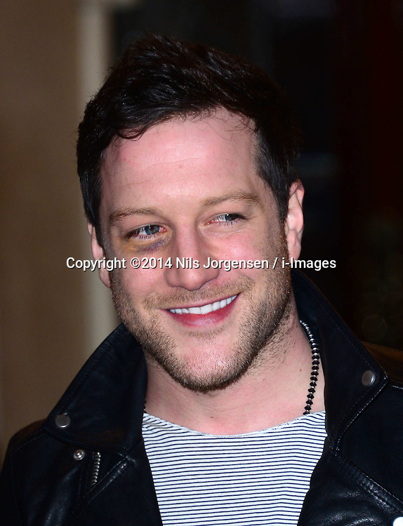Matt Cardle attends the press night performance of 'I Can't Sing! The X Factor Musical' at the London Palladium, London, United Kingdom. Wednesday, 26th March 2014. Picture by Nils Jorgensen / i-Images