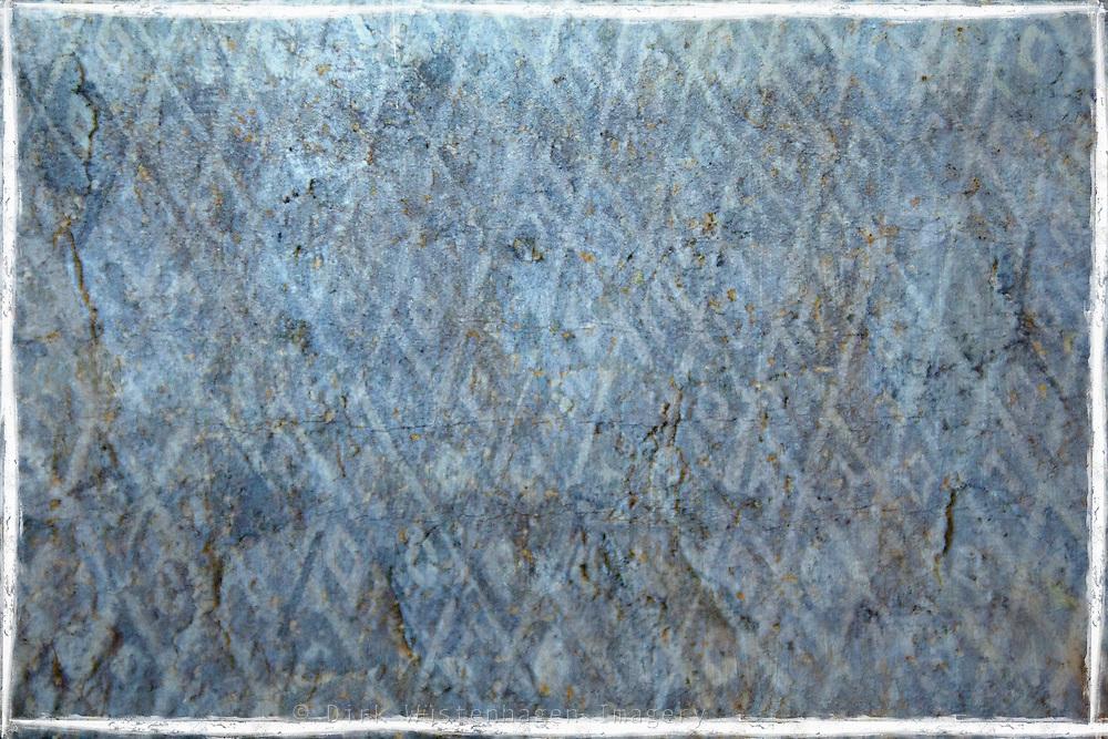 Patterned blue tiles