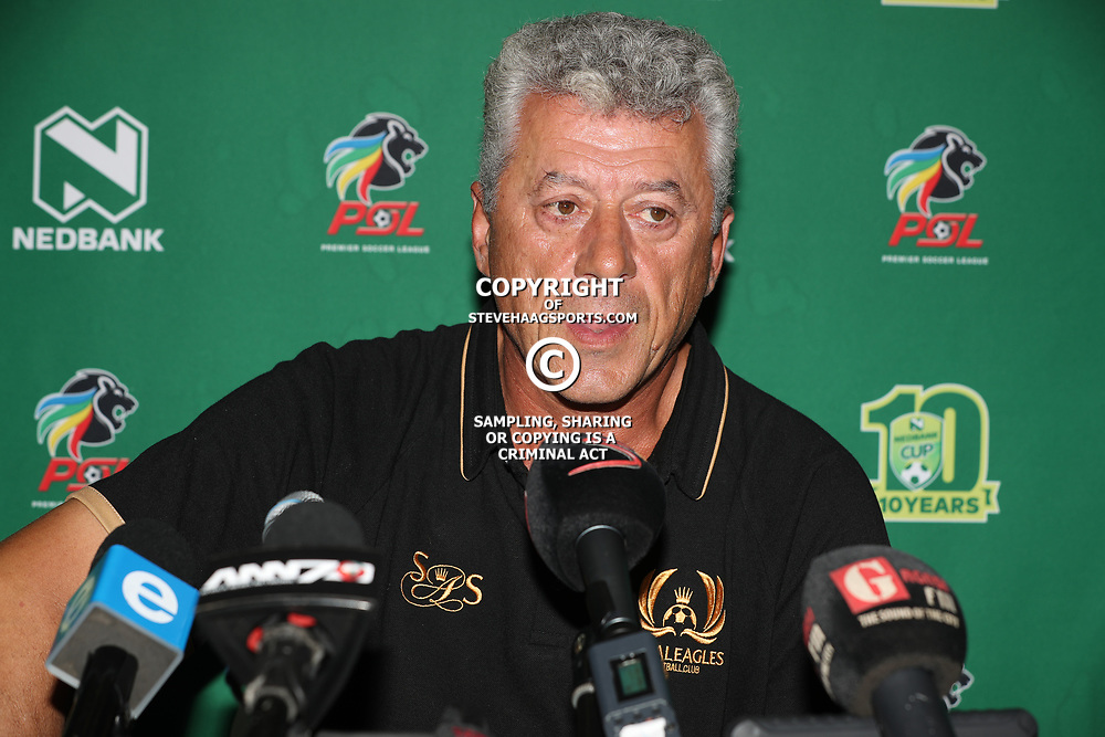 Kosta Papic (Head Coach) of Royal Eagles during the NEDBANK CUP LAST 32 MEDIA OPPORTUNITIES at  Moses Mabhida Stadium  in Durban, South Africa. 7th March 2017(Photo by Steve Haag)<br /> <br /> images for social media must have consent from Steve Haag