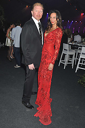 BORIS BECKER and LILLY BECKER at Gabrielle's Gala an annual fundraising evening in aid of Gabrielle's Angel Foundation for Cancer Research held at Battersea Power Station, London on 2nd May 2013.
