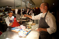 Bar Boulud in London, in the kitchen -..The Chef is Dean Yasharian