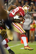 San Francisco 49ers running back Carlos Hyde (28) carries against the Los Angeles Rams at Levi's Stadium in Santa Clara, Calif., on September 12, 2016. (Stan Olszewski/Special to S.F. Examiner)