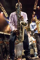 , Mango Groove. Cape Town Jazz Festival Free Community Concert, 29 March 2017. Greenmarket Square. Photo by Alec Smith/imagemundi.com