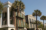 The William Roper and William Ravenel Houses on East Battery in historic Charleston, SC.