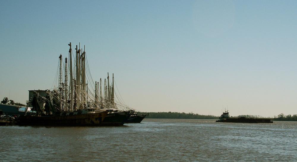 Docked Shrimp Boats, Intracoastal City, LA