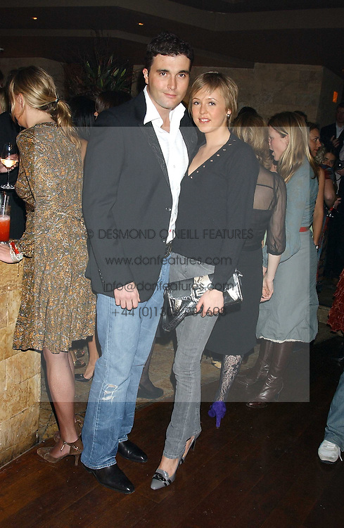 LADY ALEXANDRA SPENCER-CHURCHILL and DAVID PEACOCK at a party hosted by Daniella Helayel of fashion label ISSA held at Taman Gang, 141 Park Lane, London on 15th February 2006.<br /><br />NON EXCLUSIVE - WORLD RIGHTS