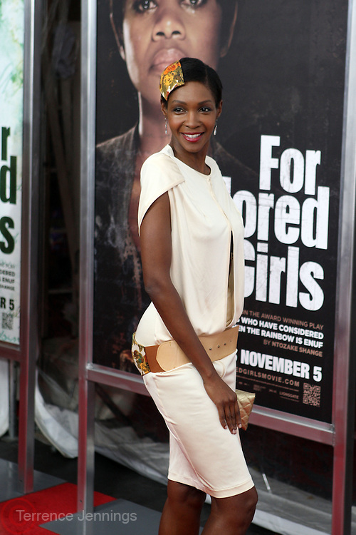 25 October 2010- New York, NY- Roshumba Williams at Tyler Perry's World Premiere of the Film 'For Colored Girls ' an Adaptation of Ntozake Shange's play ' For Colored Girls Who Have Considered Suicide When the Rainbow Is Enuf.' held at the Zeigfeld Theater on October 25, 2010 in New York City.