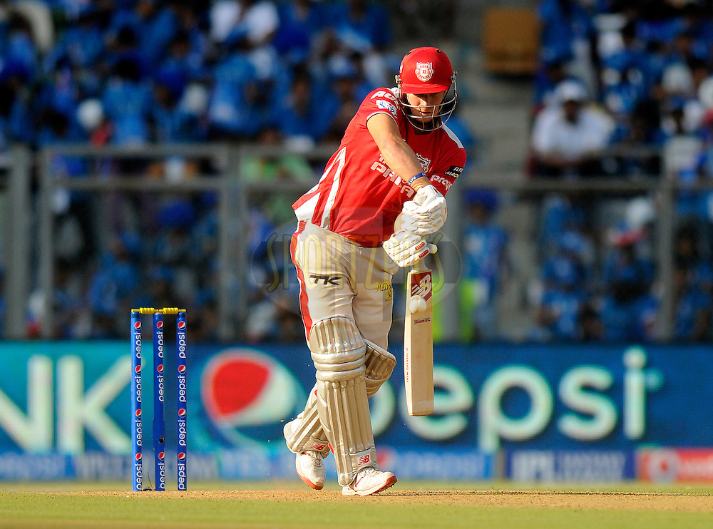 David Miller of the Kings X1 Punjab bats during match 22 of the Pepsi Indian Premier League Season 2014 between the Mumbai Indians and the Kings XI Punjab held at the Wankhede Cricket Stadium, Mumbai, India on the 3rd May  2014<br /> <br /> Photo by Pal Pillai / IPL / SPORTZPICS<br /> <br /> <br /> <br /> Image use subject to terms and conditions which can be found here:  http://sportzpics.photoshelter.com/gallery/Pepsi-IPL-Image-terms-and-conditions/G00004VW1IVJ.gB0/C0000TScjhBM6ikg