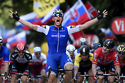July 2, 2017 - Liege, Belgium - German rider MARCEL KITTEL of Quick-Step Floors celebrates as he crosses the finish line to win the second stage of the 104th edition of the Tour de France cycling race, 203,5km from Dusseldorf, Germany, to Liege, Belgium. (Credit Image: © Yorick Jansens/Belga via ZUMA Press)