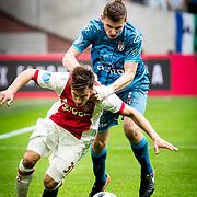 NLD/Amsterdam/20180408 - Ajax - Heracles, Nico Tagliafico (31) vs Tim Breukers (2)