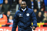 Queens Park Rangers manager Jimmy Floyd Hasselbaink during the Sky Bet Championship match between Bristol City and Queens Park Rangers at Ashton Gate, Bristol, England on 19 December 2015. Photo by Jemma Phillips.