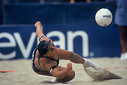 AVP/WPVA Professional Beach Volleyball/Womans Professional Volleyball - San Francisco, CA - May 23rd, 1996 - Angela Rock -  Photo by Wally Nell/Volleyball Magazine