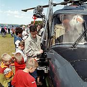 Oefening reddingsbrigade Blaricum met Lynx helicopter