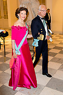 26-5-2018 COPENHAGEN - King Carl Gustaf and queen Silvia  Galanight at the Crown Prince Frederik as he celebrates his 50th birthday during a Gala dinner at Christiansborg Castle in Copenhagen, Denmark, 26 May 2018. Crown Prince Frederik turns 50.  Copenhagen, on May 26, 2018, on the occasion of Crown Prince Frederik of Denmark 50th birthday  ROBIN UTREC