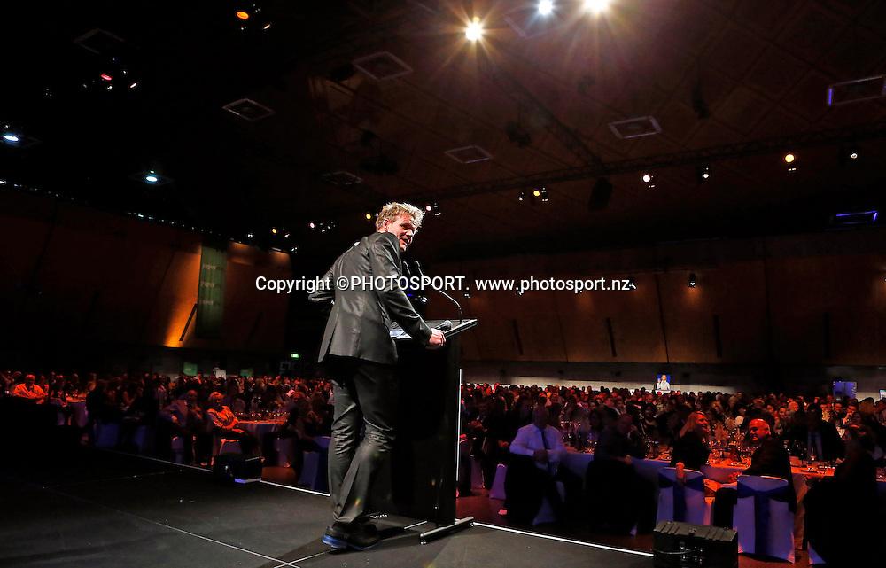 Gordon Ramsay speaks during Dinner With Gordon Ramsay. Vodafone Events Centre, Manukau, Auckland. Friday 26 April 2013.  Photo: Simon Watts / photosport.co.nz