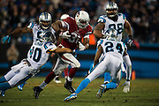 January 24, 2016: Carolina Panthers vs Arizona Cardinals. David Johnson