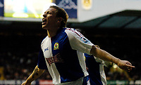 Photo: Daniel Hambury.<br />Tottenham Hotspur v Blackburn Rovers. The Barclays Premiership. 05/03/2006.<br />Blackburn's Craig Bellamy celebrates making it 2-2.
