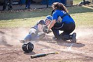 Middletown, New York - Washingtonville plays Middletown in a varsity girls' softball game on April 9, 2014. ©Tom Bushey / The Image Works