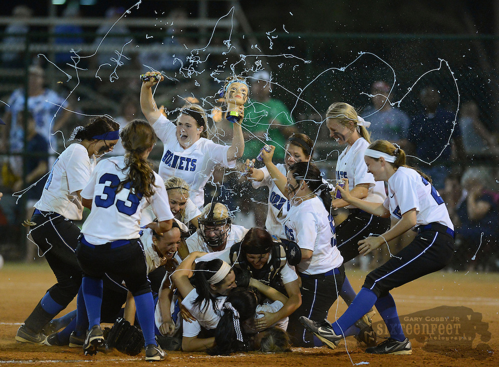 Photo by Gary Cosby Jr.     Hatton defeats Mobile Christian to claim the 2A State Softball Championship at Lagoon Park in Montgomery Friday night.