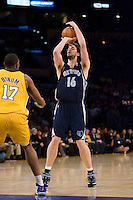 27 March 2007: Center Pau Gasol of the Memphis Grizzlies shoots the ball against the Los Angeles Lakers during the first half of the Grizzlies 88-86 victory over the Lakers at the STAPLES Center in Los Angeles, CA.
