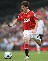 Craven Cottage, Fulham v Manchester United, Premier League 22/08/2010<br /> Park Ji-Sung of Manchester United in action<br /> Photo Marc Atkins  Fotosports International
