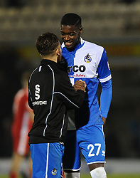 Bristol Rovers' Nathan Blissett with Bristol Rovers' Matt Taylor  - Photo mandatory by-line: Joe Meredith/JMP - Mobile: 07966 386802 - 29/11/2014 - SPORT - Football - Bristol - Memorial Stadium - Bristol Rovers v Welling - Vanarama Conference