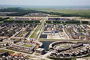 Nederland, Flevoland, Almere, 14-07-2008; Almere-buiten, nieuwe wijk, boven in beeld begin van het natuurgebied 'de oostvaardersplassen' en het IJsselmeer; . .luchtfoto (toeslag); aerial photo (additional fee required); .foto Siebe Swart / photo Siebe Swart