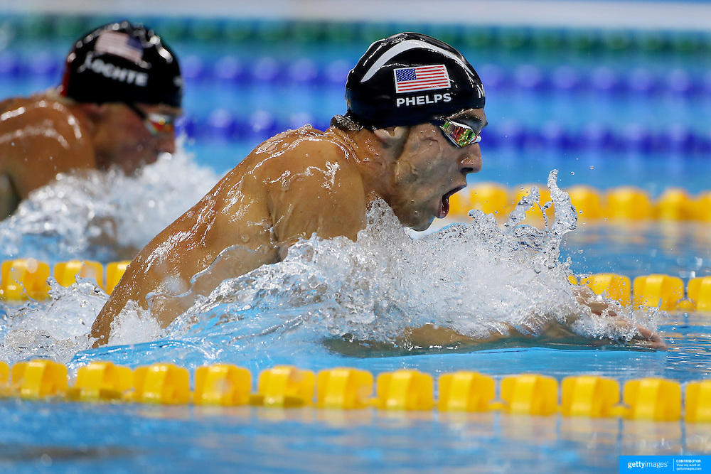 Swimming - Olympics: Day 6   Michael Phelps of the United States winning the Men's 200m Individual Medley Final during the swimming competition at the Olympic Aquatics Stadium August 11, 2016 in Rio de Janeiro, Brazil. (Photo by Tim Clayton/Corbis via Getty Images)