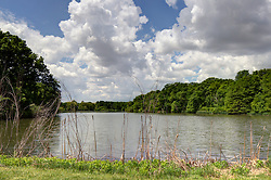 28 May 2014:   Dawson Lake located in Moraine View State Park maintained by the Illinois Department of Natural Resources (IDNR) near Le Roy Illinois This image was produced in part utilizing High Dynamic Range (HDR) or panoramic stitching or other computer software manipulation processes. It should not be used editorially without being listed as an illustration or with a disclaimer. It may or may not be an accurate representation of the scene as originally photographed and the finished image is the creation of the photographer.