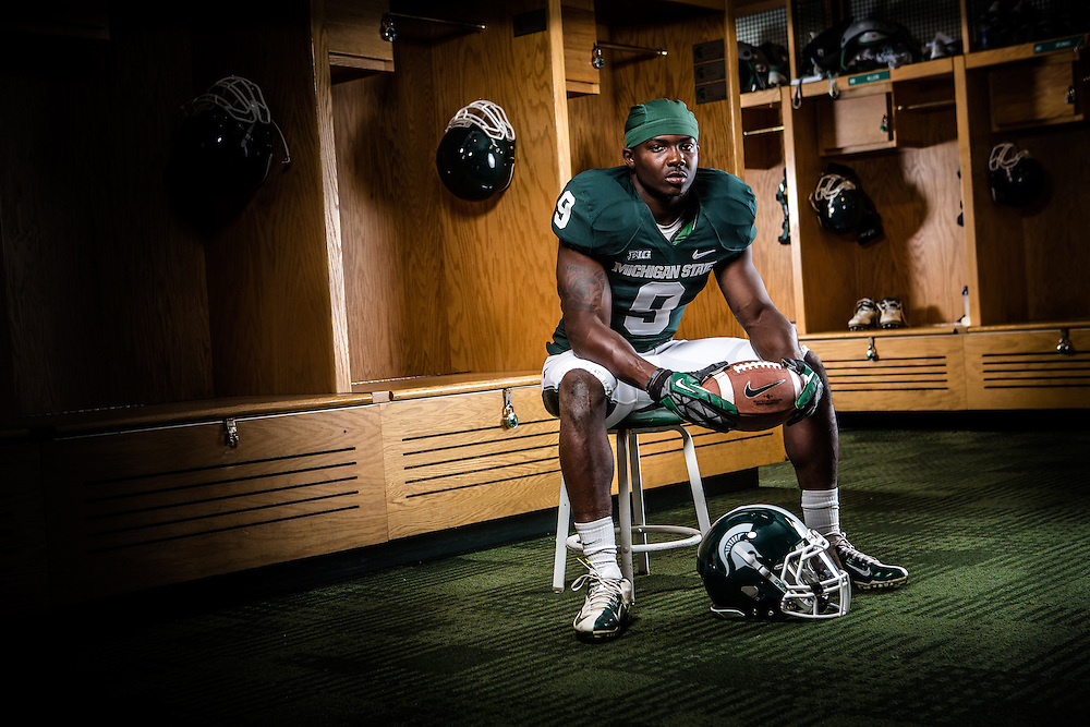 Isaiah Lewis, Promotional Athlete Portrait for Michigan State University Athletic Department.<br /> <br /> Photo Copyright: Matthew Mitchell Photography / MSU Athletic Communications