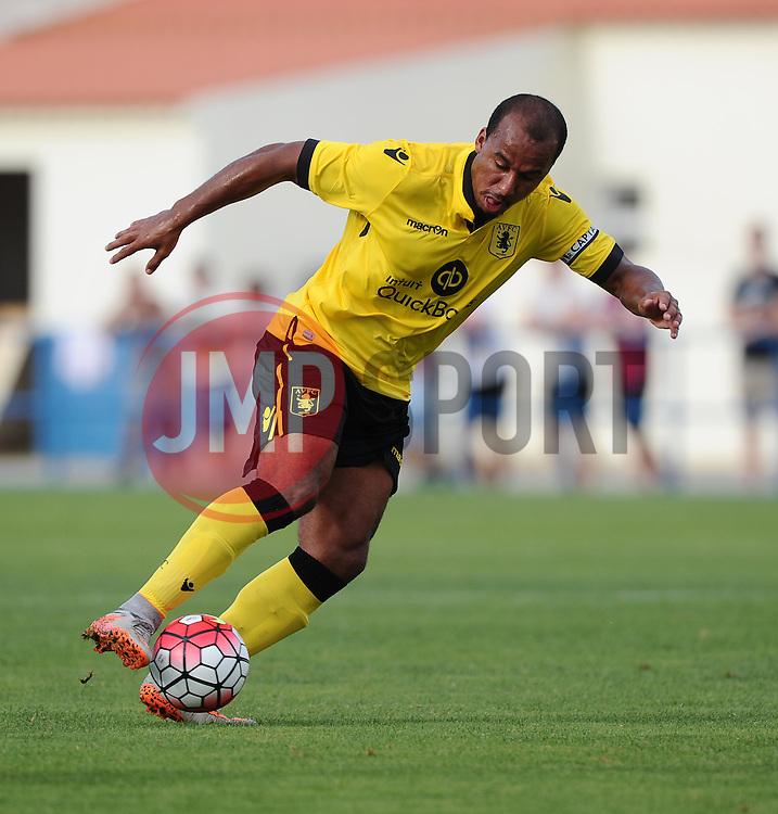 Aston Villa's Gabriel Agbonlahor  - Photo mandatory by-line: Joe Meredith/JMP - Mobile: 07966 386802 - 17/07/2015 - SPORT - Football - Albufeira - Estadio Da Nora - Pre-Season Friendly