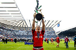 Liam Williams of Saracens celebrates winning the Heineken Champions Cup after beating Leinster Rugby in the Final- Mandatory by-line: Robbie Stephenson/JMP - 11/05/2019 - RUGBY - St James' Park - Newcastle, England - Leinster Rugby v Saracens - Heineken Champions Cup Final