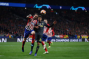 Diego Godin of Atletico de Madrid and Rodrigo Betancur of Juventus during the UEFA Champions League, round of 16, 1st leg football match between Atletico de Madrid and Juventus on February 20, 2019 at Wanda metropolitano stadium in Madrid, Spain - Photo Oscar J Barroso / Spain ProSportsImages / DPPI / ProSportsImages / DPPI