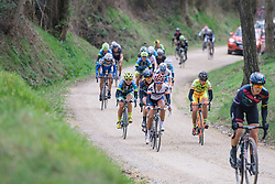 Carmen Small counts down the gravel sectors - 2016 Strade Bianche - Elite Women, a 121km road race from Siena to Piazza del Campo on March 5, 2016 in Tuscany, Italy.