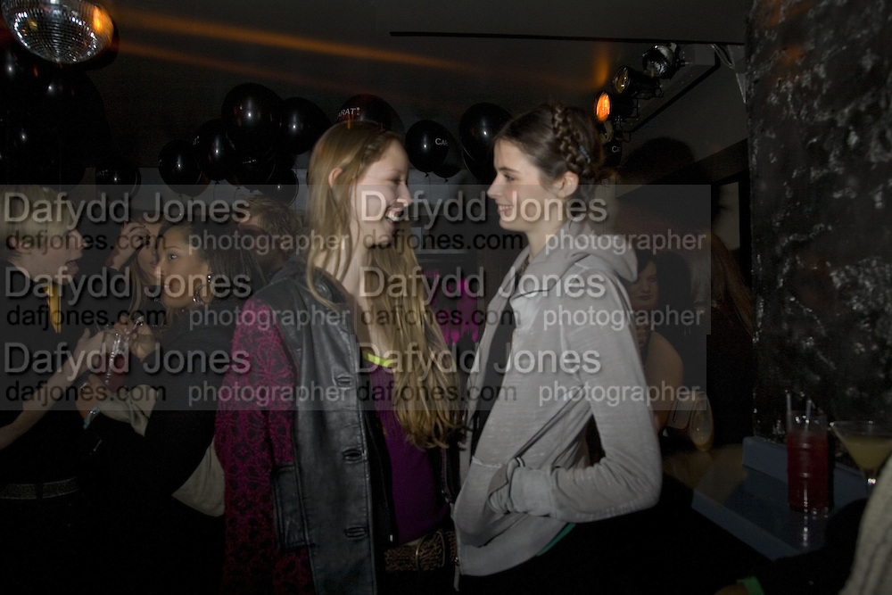 MORWENNA LYTTON-COBBOLD AND ROSA CURTAIN. Party to launch CARAT a new diamond brand, Kitts. Sloane sq. London. 20 December 2007.  -DO NOT ARCHIVE-© Copyright Photograph by Dafydd Jones. 248 Clapham Rd. London SW9 0PZ. Tel 0207 820 0771. www.dafjones.com.