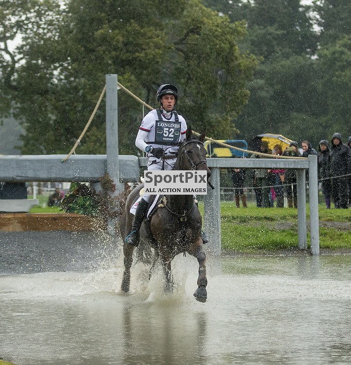 William Oakden (GBR) on Graystone Midnight Melody.  Longines FEI European Eventing Championship 2015, Blair Castle, 12th September 2015