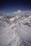 Aerial Photo, Sierra Nevada Mountains, Winter, Sequoia and Kings Canyon National Parks, California