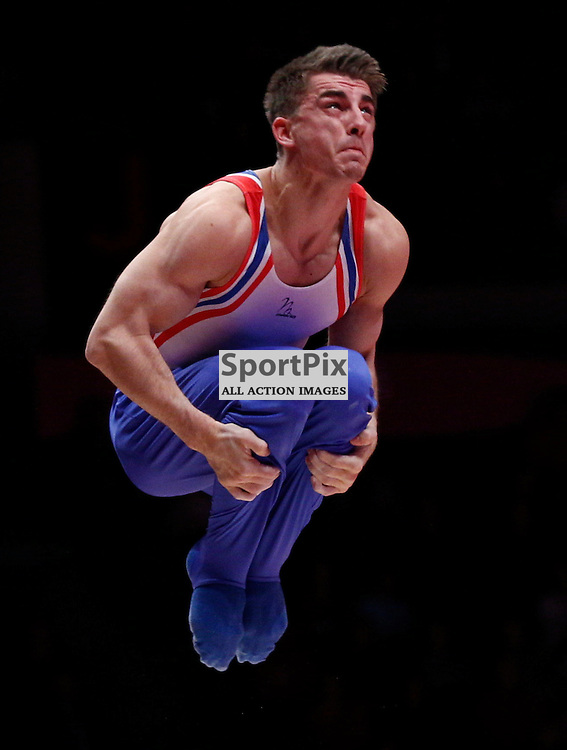 2015 Artistic Gymnastics World Championships being held in Glasgow from 23rd October to 1st November 2015.....Great Britain's Max Whitlock performs in the Parallel Bars routine in the Men's All-Round Final...(c) STEPHEN LAWSON | SportPix.org.uk