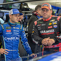 May 18, 2018 - Concord, North Carolina, USA: Kyle Larson (42) gets ready to practice for the Monster Energy Open at Charlotte Motor Speedway in Concord, North Carolina.