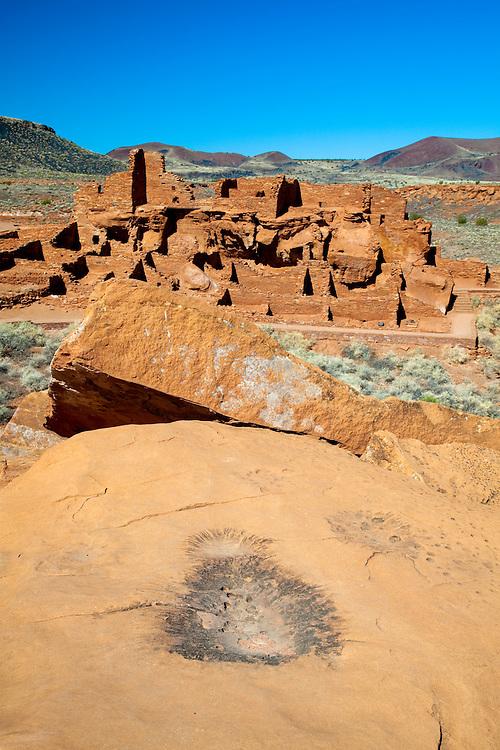 Wupatki Pueblo ruins at Wupatki National Monument.