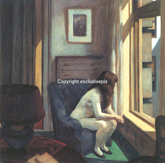 Life imitating art: Artist recreates famous Edward Hopper paintings with collection of stunning photographs<br /> <br /> They are stunning images which pay tribute to the work of a renowned painter.<br /> <br /> Although there initially seems little between them, one set are photographs and the other the paintings on which they are based.<br /> <br /> For his project, Richard Tuschman decided to recreate the paintings of Edward Hopper by photographing famous scenes from his hero's work. As reported by Flavorwire, Mr Tuschman decided to embark on the ambitious project because of his appreciation of Hopper's work.<br /> <br /> He said: 'I have always loved the way his paintings, with an economy of means, are able to address the mysteries and complexities of the human condition.'<br /> In his stunning photographs, Mr Tuschman uses his subjects to emulate the vibrant characters in Hopper's paintings.<br /> <br /> Famous scenes from the original paintings, such as a naked woman looking out of a window and a woman sat deep in thought next to a sleeping man on a bed, are re-enacted.<br /> <br /> However, although Hopper's paintings are famed for posing more questions than answers, Mr Tuschman also poses new and interesting mysteries, offering his own unique take on the paintings.<br /> <br /> Mr Tuschman creates photographic images for book covers and magazines. In the early 1990s he started experimenting with digital imaging.<br /> <br /> His award-winning work has been widely recognised around the world and has found a wide audience in the commercial sector.<br /> <br /> Edward Hopper was a prominent American realist painter and printmaker. He was most widely known for his oil paintings. His paintings were known to reflect his personal vision of modern American life.<br /> &copy; Richard Tuschman/Exclusivepix